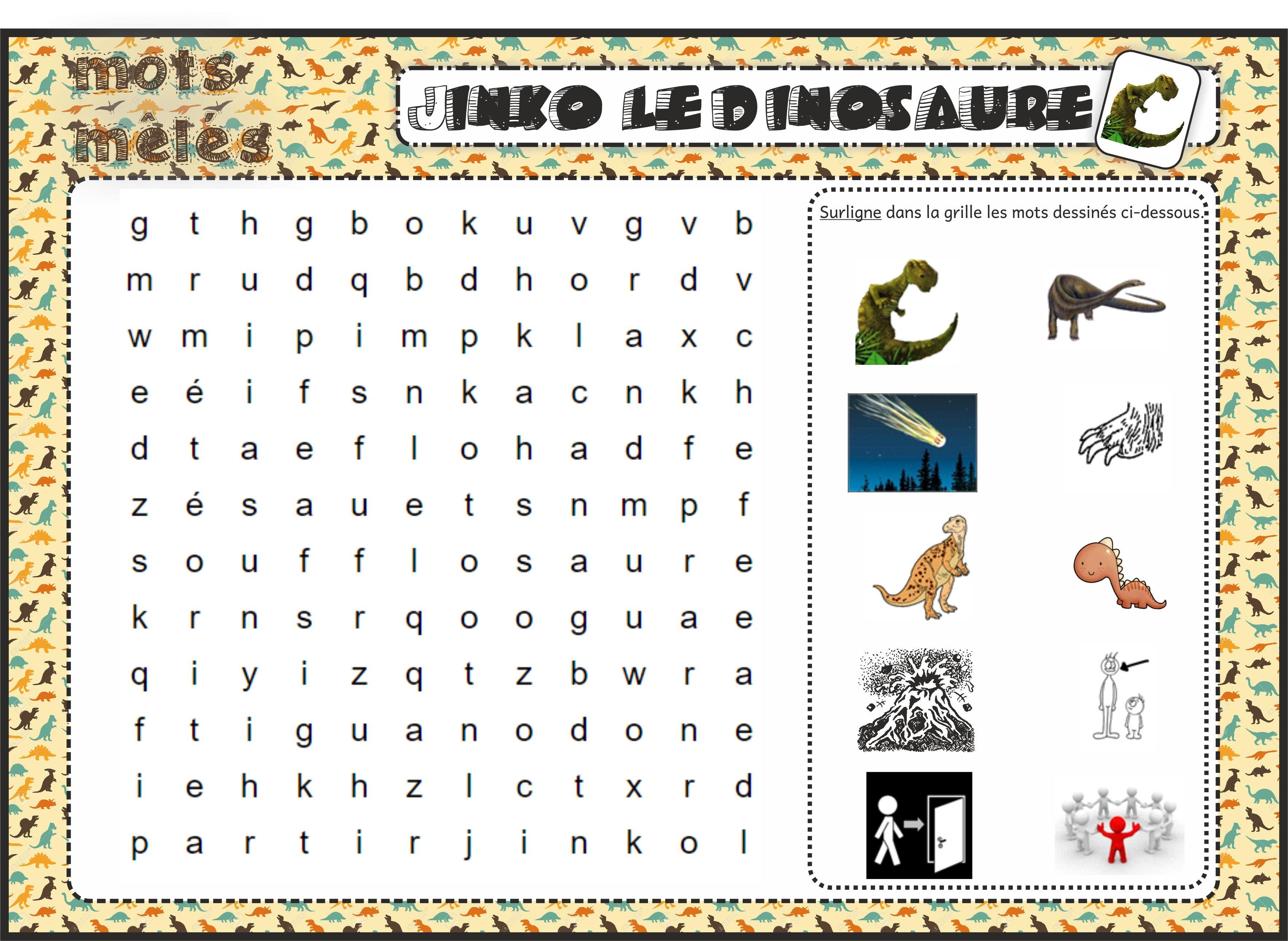 Jinko Le Dinosaure Fiches De Préparations Cycle1 Cycle 2 Ulis